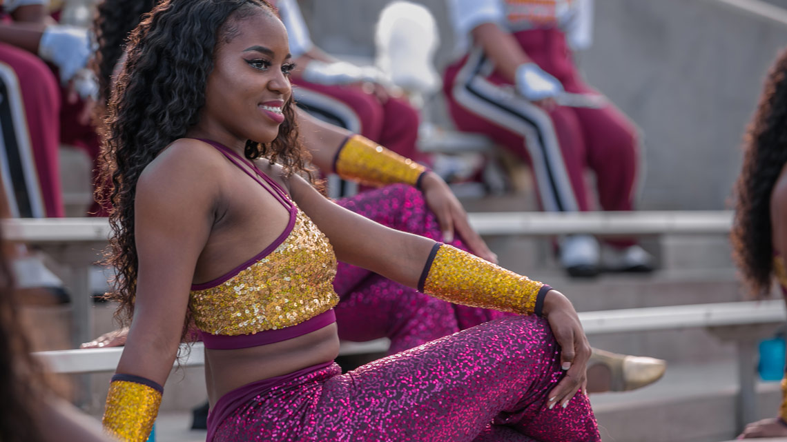 The 14K Dancers, Pose, Stands, Bethune-Cookman University, BCU, Marching Wildcats, Marching Orders, Stage 13 Original, stage13network