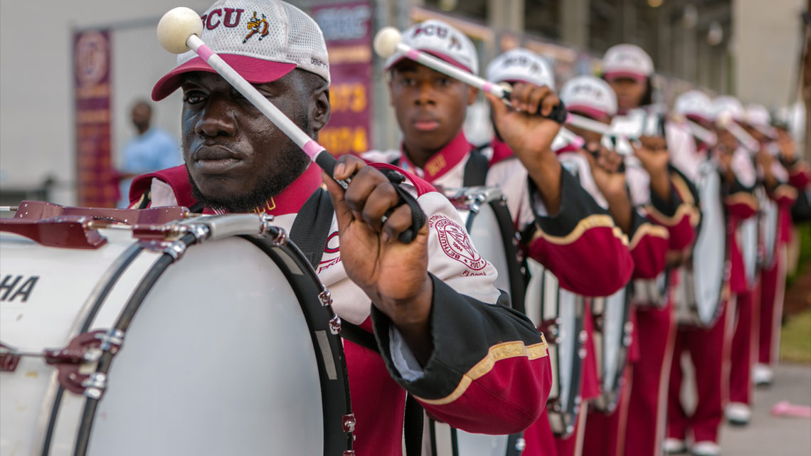 Drums, Hitting The Field, Bethune-Cookman University, BCU, Marching Wildcats, Marching Orders, Stage 13 Original, stage13network