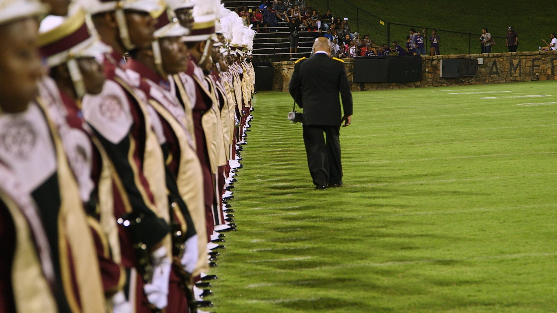 Band Leader, Director, Donovan Wells, Final Check Before Performance, Formation, Bethune-Cookman University, BCU, Marching Wildcats, Marching Orders, Stage 13 Original, stage13network