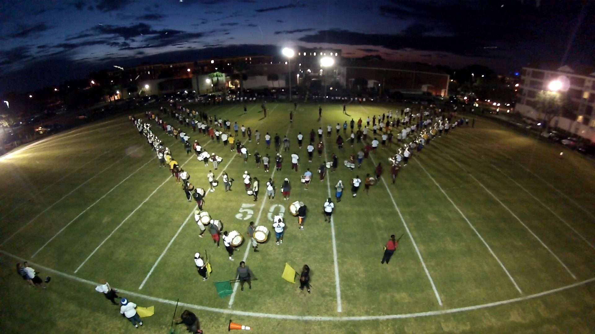 Aerial View Of Band Formation, Bethune-Cookman University, BCU, Marching Wildcats, Marching Orders, Stage 13 Original, stage13network