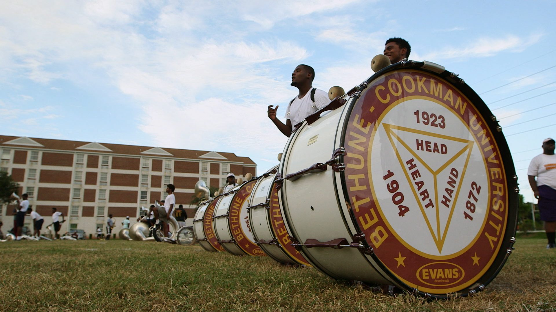 Band Practice, Rehearsal, Field, Formation, Before Queen City Battle Of The Bands, Bethune-Cookman University, BCU, Marching Wildcats, Marching Orders, Stage 13 Original, stage13network